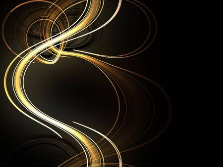 golden weave on black background