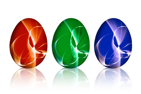 red green and blue Easter egg