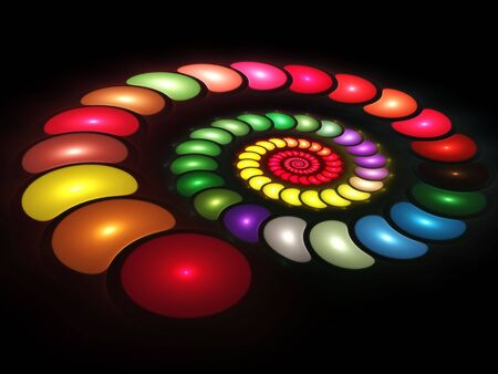 Colorful Spiral Stock Photo