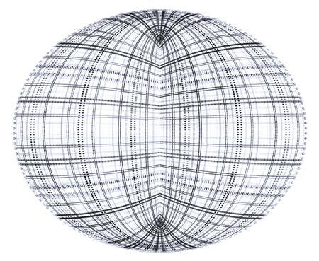 Fractal globe (monochrome) Stock Photo
