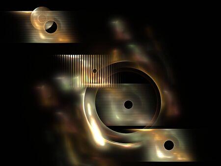 Abstract metallic effect