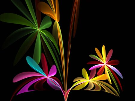 Flowers on black background Stock Photo