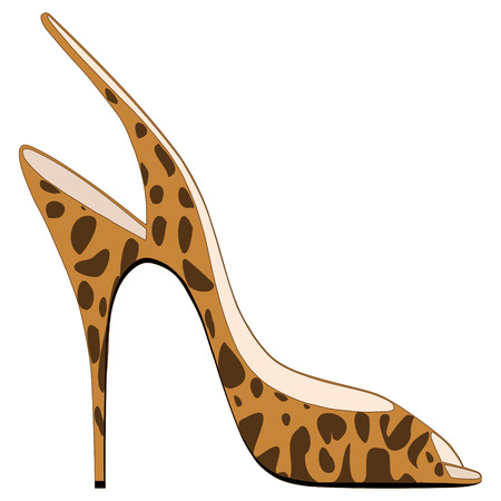 high fashion: High heeled sandal