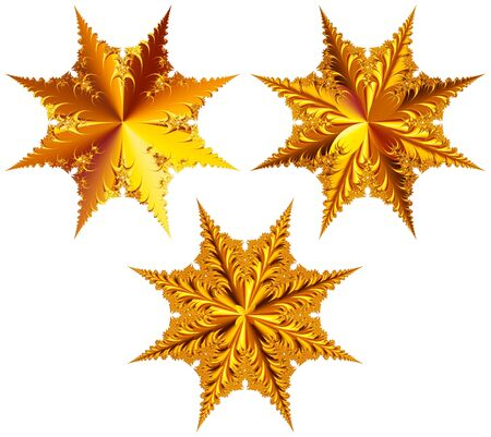 Set of Stars isolated Stock Photo