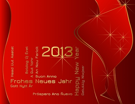 New Year 2013 - differnt languages Vector