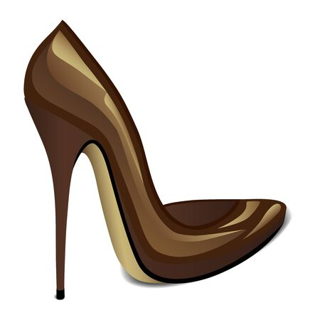 Brown High Heel Illustration