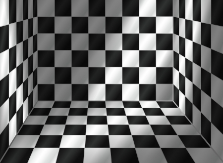 Tiled room with incidence of light  vector, transparency included