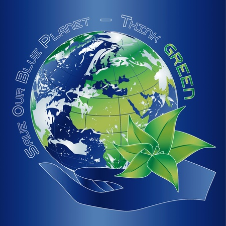 Save our Blue Planet - Think Green Stock Vector - 16892700