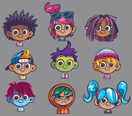 cartoon school girl: Kid Avatars