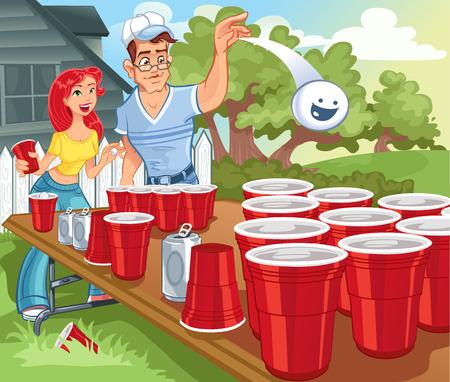 pingpong: Beer Pong Party Colegio Vectores