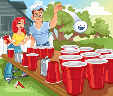 Beer Pong College Party