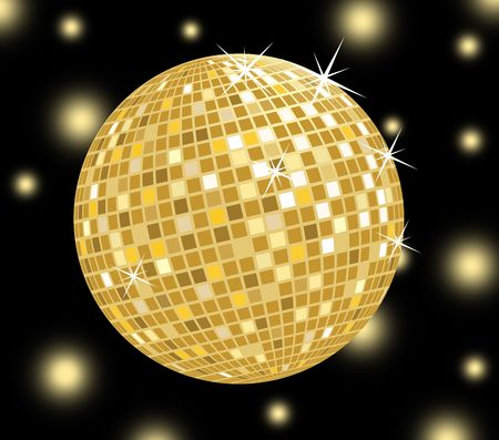 golden: Golden disco ball