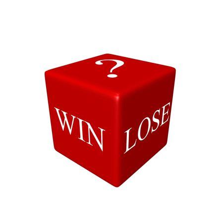 Concept - win or lose Stock Photo
