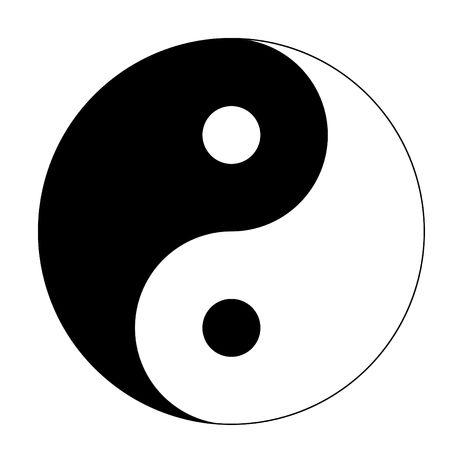Yin yang sign isolated on white background