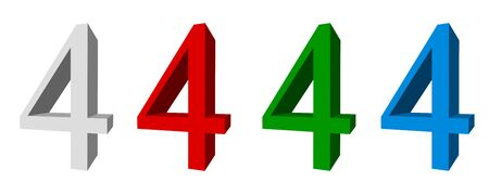 3D sign_4 available in four colors: white, red, green, blue