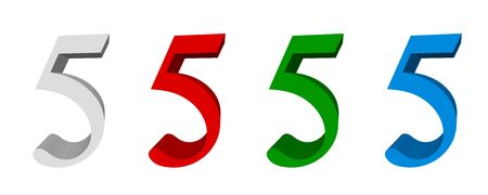 3D sign_5 available in four colors: white, red, green, blue Reklamní fotografie
