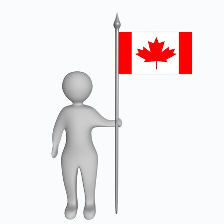 canadian flag: Man with the canadian flag