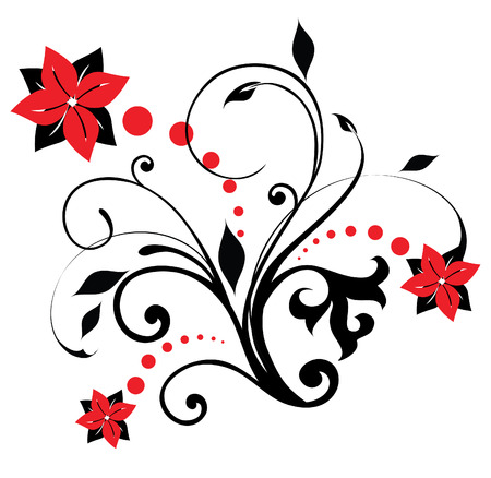 Floral design (vector); witte achtergrond