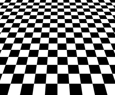 Chess board or checkered floor Stock Photo