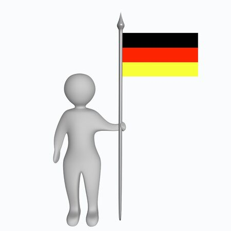 schwarz: Man with the german flag