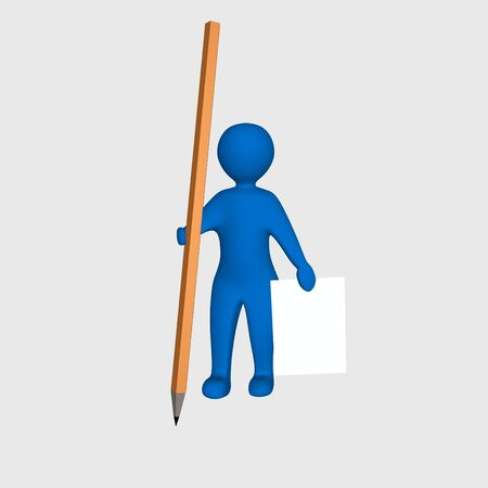 Man with a pencil and paper Stock Photo - 4650401