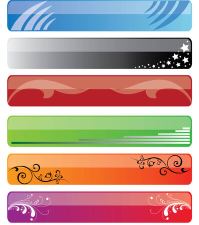 Samples of colored banners (vector) Illustration