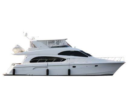 bateau: Bateau isol� sur fond blanc