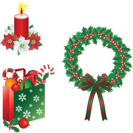 Christmas ornaments Illustration