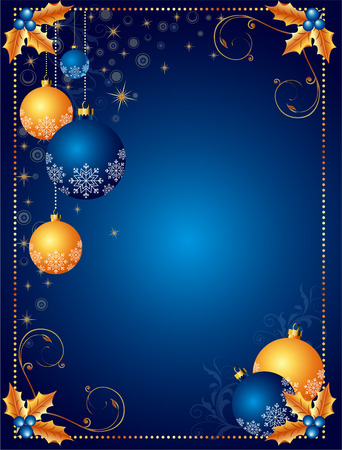 christmas backgrounds: Christmas background or card Illustration