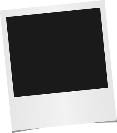 snapshots: Photo frame isolated on white background