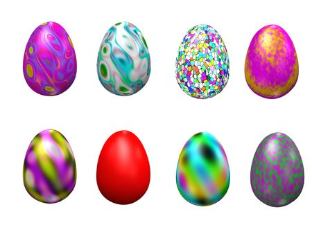 Easter eggs (3D render)