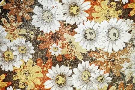 Old leather with flowers, can be used for background