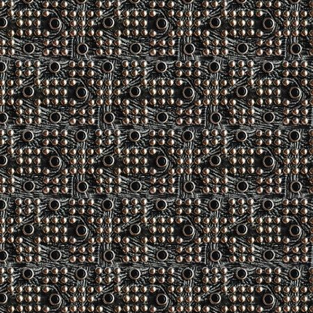 Black leather with metallic dots, can be used for background, pattern photo