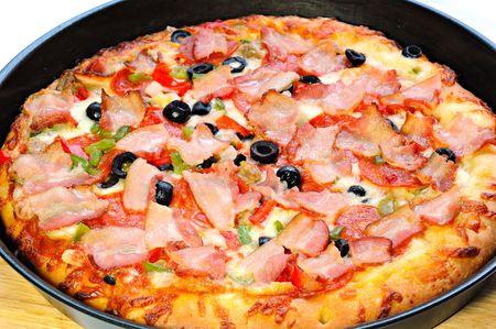 tasty italian pizza freshly baked photo