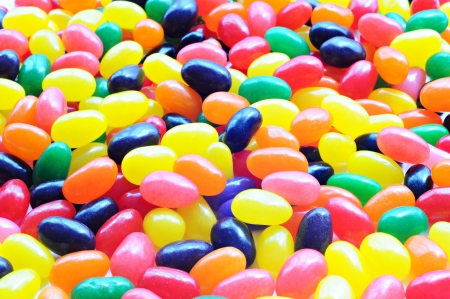 Background of colorful candy drops
