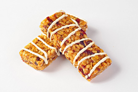 cereal bar: Two cereal bars with wheat, cranberries and yogurt