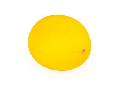 Yellow honeydew melon, on white background