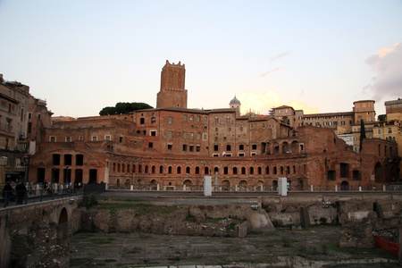 Ancient Trajan's Forum in Rome near coliseum (Italy) Stock Photo - 10009340