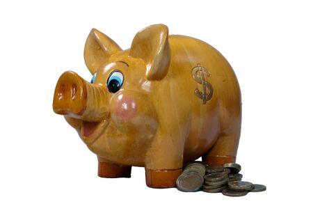 money box: money box with euro coins