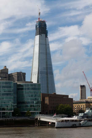 Shard London Bridge picture from the Thames Stock Photo - 12116896