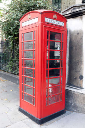 Red telephone Box in London, United Kingdom photo