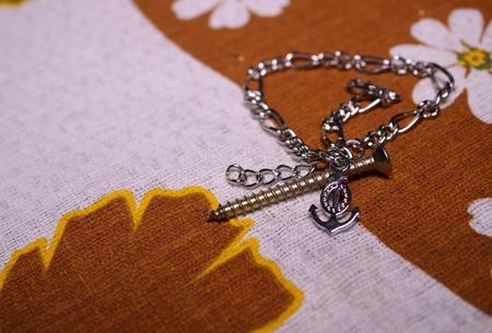 nail and chain Фото со стока