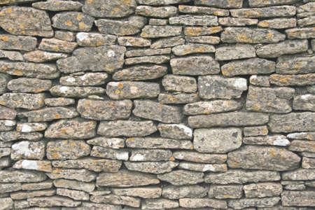 drystone: Dry stone wall close up