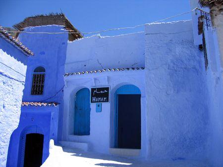 Turkish bath (hamam) in a blue city of Chefchaouen photo