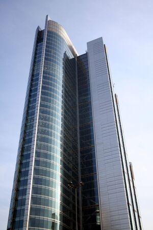 Modern skyscraper in Warsaw photo