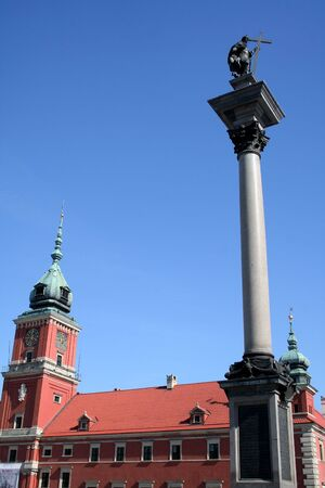 Royal Palace in Warsaw and the Column of King Sigmundus