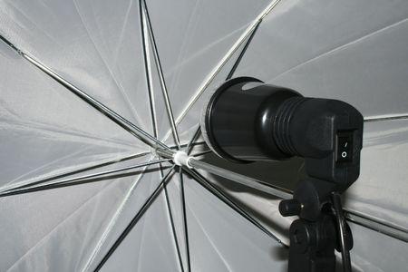 Inside view of a photo diffuser umbrella Stock Photo - 503056