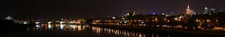 Panorama of the Old Town and downtown Warsaw over Vistula river