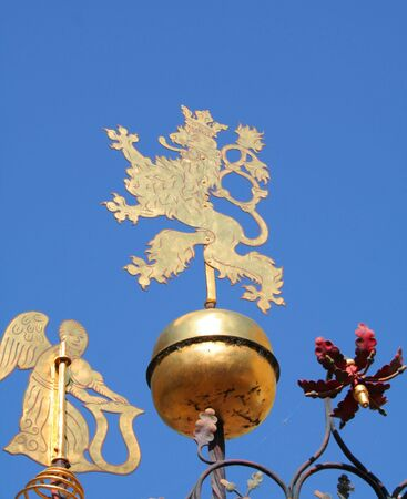 Griffin, a heraldic creature from Prague's coat of arms Stock Photo - 536833