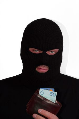 con man: Criminal series 1 - the pickpocket with a wallet Stock Photo